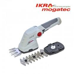 Ackumulatordrivet häcksax för klippning av gräs och häckar 3,6V Ikra Mogatec IGBS 3.6 USB