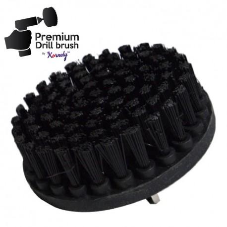 Premium Drill Brush For Professional Cleaning - Ultra Stiff, Black, 13 cm
