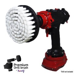 Premium Drill Brush For Professional Cleaning - Extra Soft, White, 13 cm