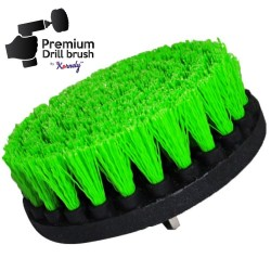 Premium Drill Brush For Professional Cleaning - Medium, Green, 13 cm