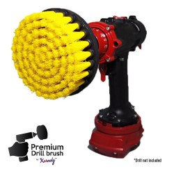 Premium Drill Brush For Professional Cleaning - Medium Soft, Yellow, 13 cm