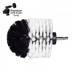 Premium Drill Brush For Professional Cleaning - Extra Soft, White, Original