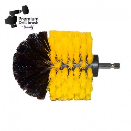 """""""DRILL BRUSH"""" Original Yellow minkštas šepetys suktukams ir gręžtuvams, 7,5 cm"""