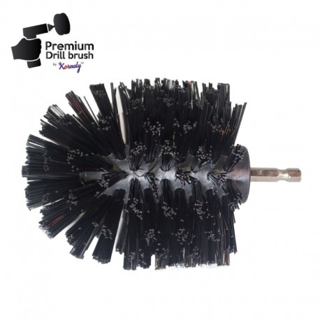 Profesionalus valymo šepetys Premium Drill Brush - ypač kietas, juodas, Original