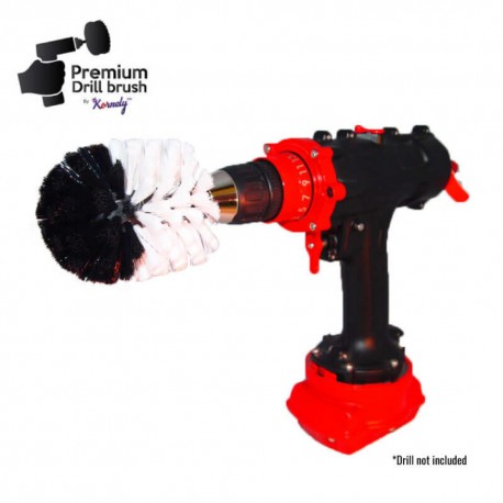 Premium Drill Brush For Professional Cleaning - Extra Soft, White, Original