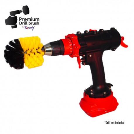 Профессиональная щетка Premium Drill Brush - средний мягкий, желтый, Original