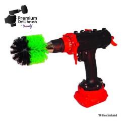 Profesionalus valymo šepetys Premium Drill Brush - vidutiniškai kietas, žalias, Original
