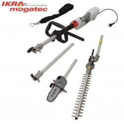 Electric Telescopic Hedge Trimmer & Pruner 1000W Ikra Mogatec IECH 1000 2in1