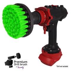 Premium Drill Brush For Professional Cleaning - Medium, Green, 13 cm