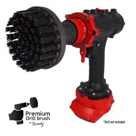 Premium Drill Brush For Professional Cleaning - Ultra Stiff, Black, 10 cm
