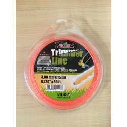 Cutting line, 3 mm x 15 m, twisted