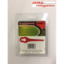 "Nylon blades 20 pcs. for ""IKRA mogatec"" cordless grass trimmer IAT 20-1(IART 2520)"
