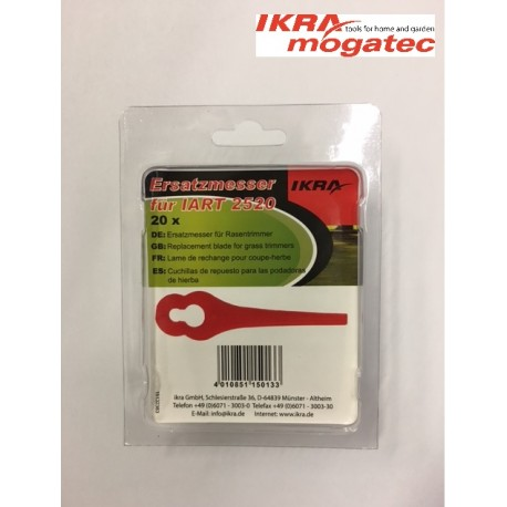 "Nylon blades 20 pcs. for ""IKRA mogatec"" cordless grass trimmer IART 2520"