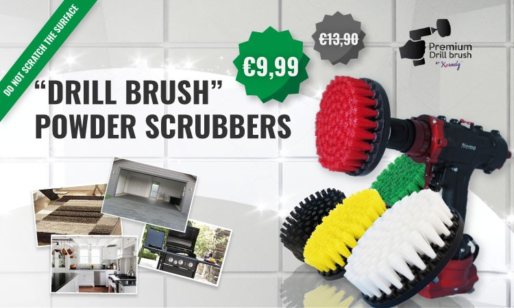 """DRILL BRUSH"" POWER SCRUBBERS"
